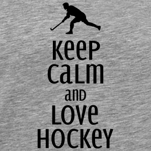 keep calm and love hockey Singlets - Premium T-skjorte for menn