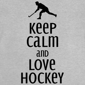 keep calm and love hockey Langarmshirts - Baby T-Shirt