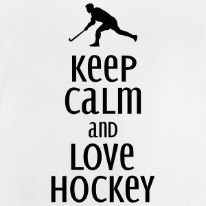 keep calm and love hockey Tröjor - Baby-T-shirt
