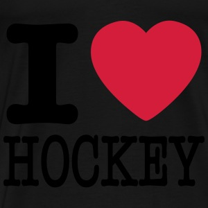 i love hockey / I heart hockey Gensere - Premium T-skjorte for menn