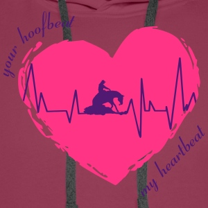 your_hoofbeat_my_heartbeat_slider T-Shirts - Männer Premium Hoodie
