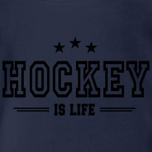 hockey is life 2 T-Shirts - Baby Bio-Kurzarm-Body
