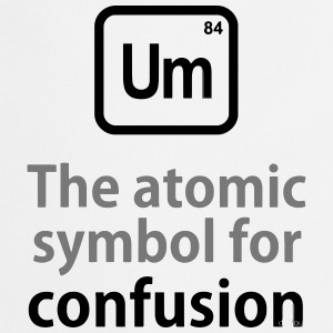 THE CHEMICAL ELEMENT OF CONFUSION T-shirts - Forklæde