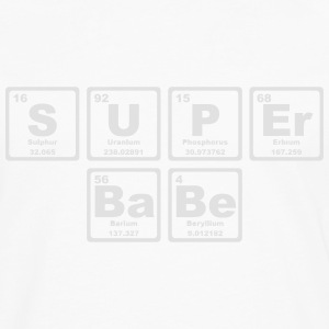 SUPERBABE PERIODIC TABLE OF THE ELEMENTS T-shirts - Långärmad premium-T-shirt herr
