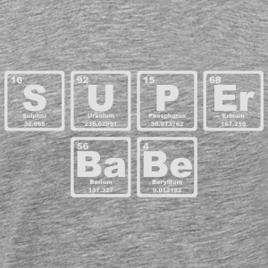 SUPERBABE PERIODIC TABLE OF THE ELEMENTS Langærmede t-shirts - Herre premium T-shirt