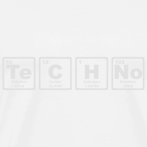 TECHNO PERIODIC TABLE Toppe - Herre premium T-shirt