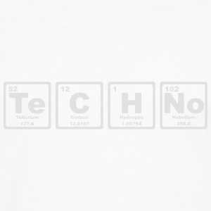 TECHNO PERIODIC TABLE Babybody - Långärmad premium-T-shirt herr