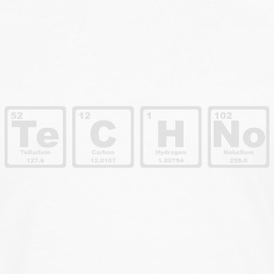 TECHNO PERIODIC TABLE Camisetas - Camiseta de manga larga premium hombre