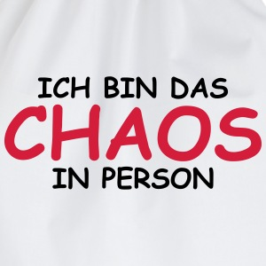 Ich bin das Chaos in Person! Langarmshirts - Turnbeutel