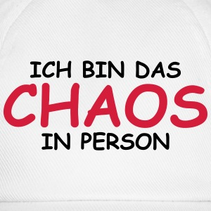 Ich bin das Chaos in Person! T-Shirts - Baseballkappe