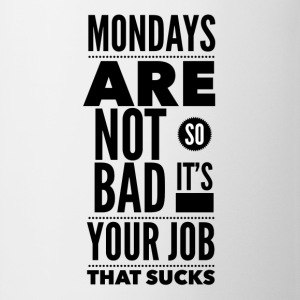 Mondays are not so bad it's your job Knappar - Mugg