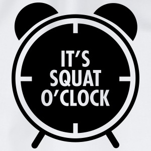 It's Squat O'Clock Tops - Drawstring Bag