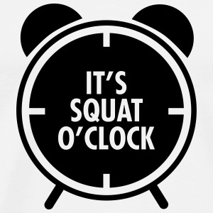 It's Squat O'Clock Toppar - Premium-T-shirt herr
