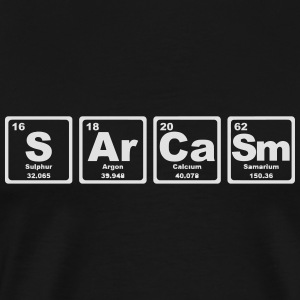 SARCASM PERIODIC TABLE Sweaters - Mannen Premium T-shirt