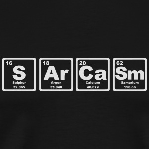 SARCASM PERIODIC TABLE Overig - Mannen Premium T-shirt