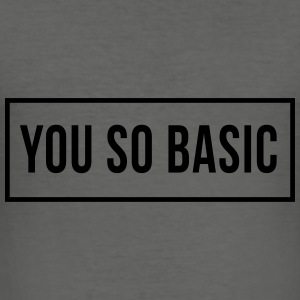 You So Basic Väskor & ryggsäckar - Slim Fit T-shirt herr