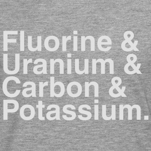 ELEMENTS OF THE PERIODIC TABLES T-shirts - Herre premium T-shirt med lange ærmer