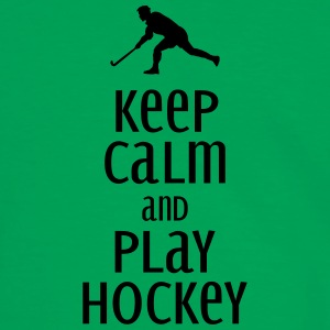 keep calm and play hockey Bags & Backpacks - Men's Ringer Shirt