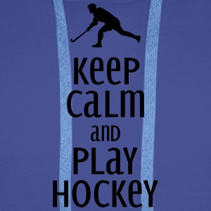 keep calm and play hockey Mugs & Drinkware - Men's Premium Hoodie