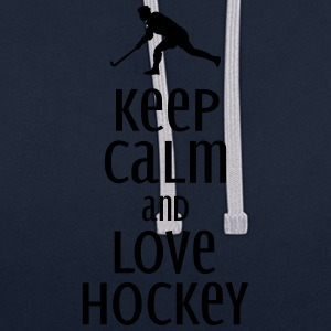 keep calm and love hockey Bags & Backpacks - Contrast Colour Hoodie