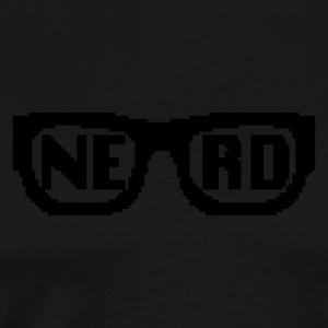 Nerd Pixel Glasses - Men's Premium T-Shirt