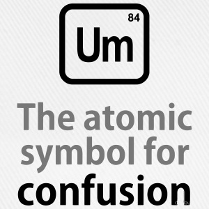 THE CHEMICAL ELEMENT OF CONFUSION T-shirts - Baseballcap