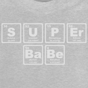 SUPERBABE PERIODIC TABLE OF THE ELEMENTS Långärmade T-shirts - Baby-T-shirt