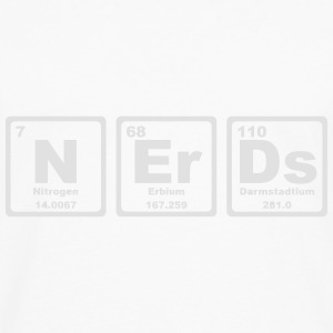NERDS ELEMENTS OF THE PERIODIC TABLE Topper - Premium langermet T-skjorte for menn