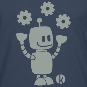 Happy robot - happy robot T-skjorter - Premium langermet T-skjorte for menn
