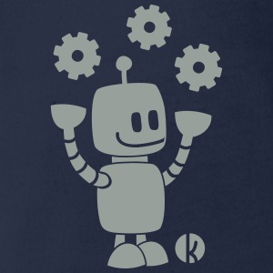 Happy robot - happy robot Shirts - Organic Short-sleeved Baby Bodysuit