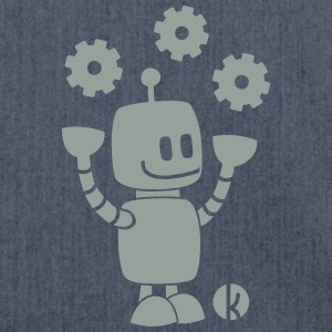 Fröhlicher Roboter - Happy Robot T-Shirts - Schultertasche aus Recycling-Material