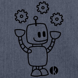 Happy Juggling Robot T-shirts - Schoudertas van gerecycled materiaal