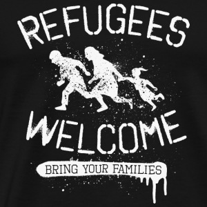 Refugees Welcome - rfgs wlcm  Tops - Männer Premium T-Shirt