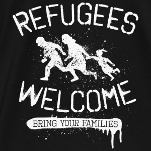 Refugees Welcome - rfgs wlcm  Pullover & Hoodies - Männer Premium T-Shirt