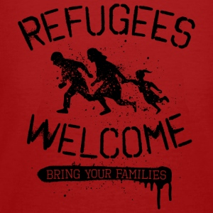 Refugees Welcome - black Pullover & Hoodies - Männer Bio-T-Shirt