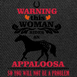 Warning! This woman rides an Appaloosa Sweat-shirts - Casquette snapback