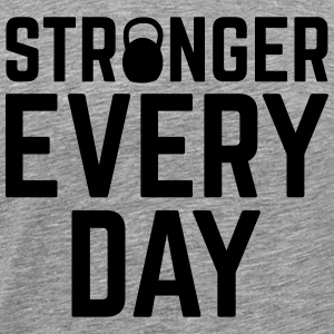 Stronger Every Day Singlets - Premium T-skjorte for menn