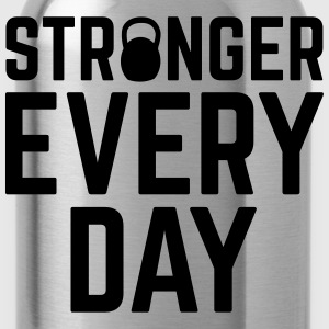 Stronger Every Day T-shirts - Vattenflaska