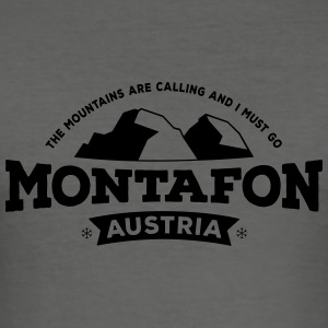 Montafon black Bags & Backpacks - Men's Slim Fit T-Shirt