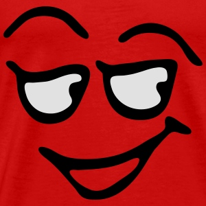 Funny Face, Cartoon Face, Trickfilm, Smiley Tanktoppar - Premium-T-shirt herr