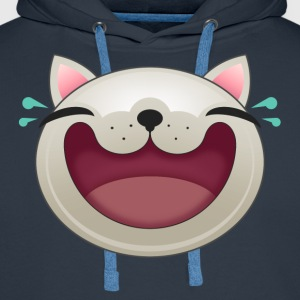 EXPRESSION - HAPPY CAT - Men's Premium Hoodie
