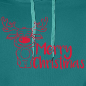 merry christmas moose red T-Shirts - Men's Premium Hoodie