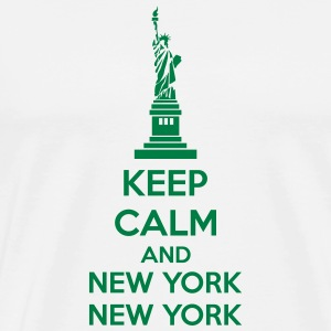Keep Calm And New York New York Tassen & rugzakken - Mannen Premium T-shirt