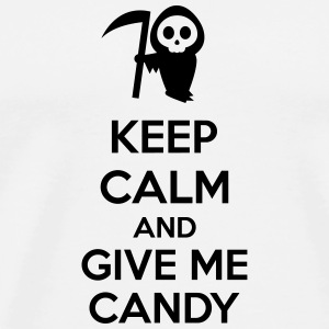 Keep Calm And Give Me Candy Vesker & ryggsekker - Premium T-skjorte for menn