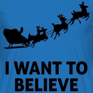 I Want To Believe In Santa Claus Forklær - T-skjorte for menn