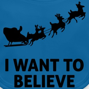 I Want To Believe In Santa Claus Shirts - Baby Organic Bib