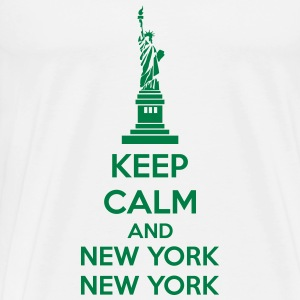 Keep Calm And New York New York Maglie a manica lunga - Maglietta Premium da uomo