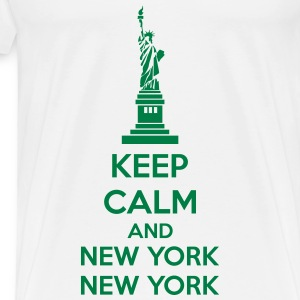 Keep Calm And New York New York Tank Tops - Men's Premium T-Shirt