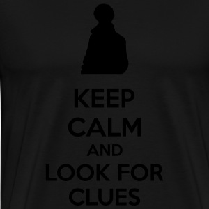 Keep Calm And Look For Clues Sweaters - Mannen Premium T-shirt