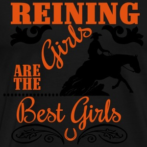 Reining Girls are the best Girls Topper - Premium T-skjorte for menn